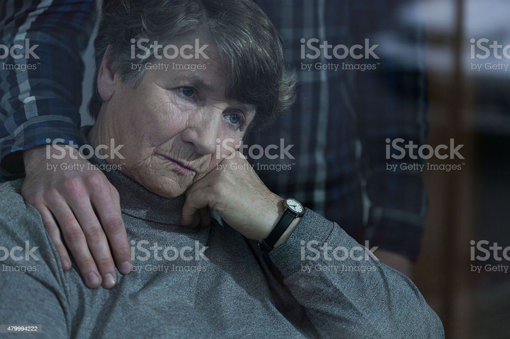 Senior woman with grandson stock photo