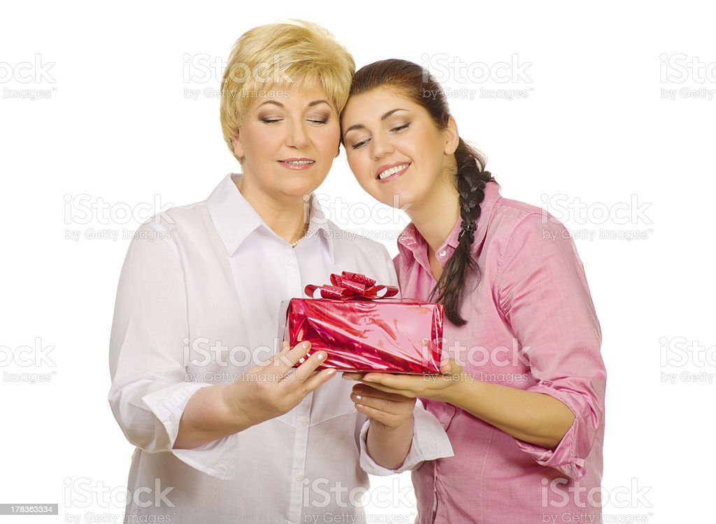 Senior woman with her daughter royalty-free stock photo