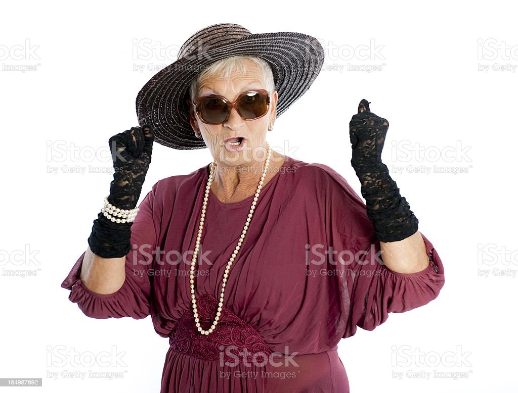 Senior woman with sun hat royalty-free stock photo