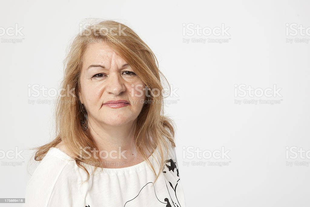 senior woman portait royalty-free stock photo