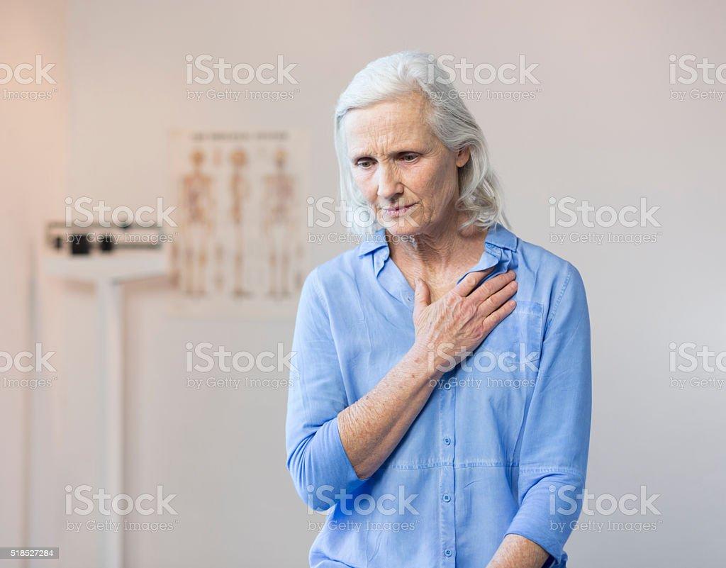 Senior Woman's Doctor's Office Visit stock photo