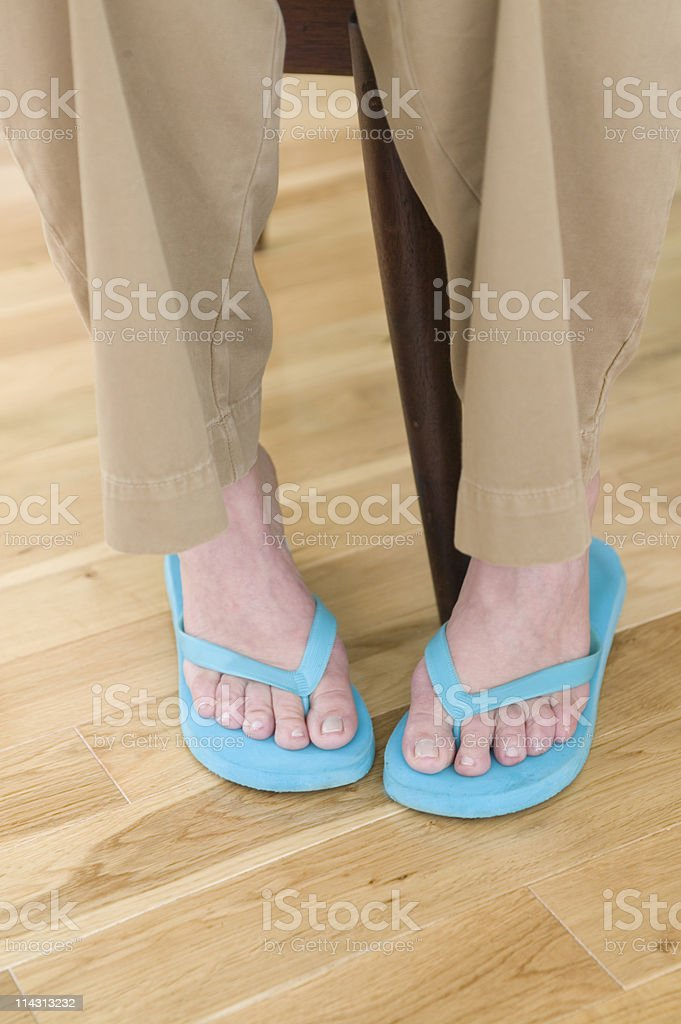 senior woman's feet royalty-free stock photo