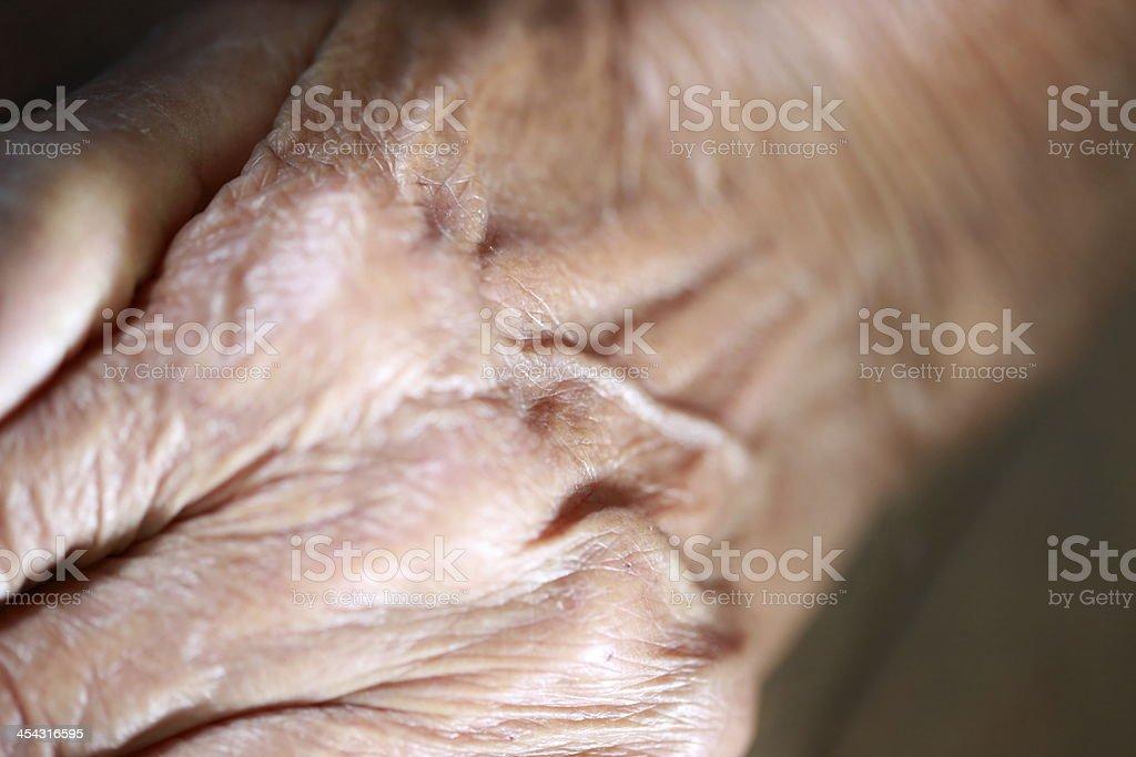 Senior Woman's Hand royalty-free stock photo