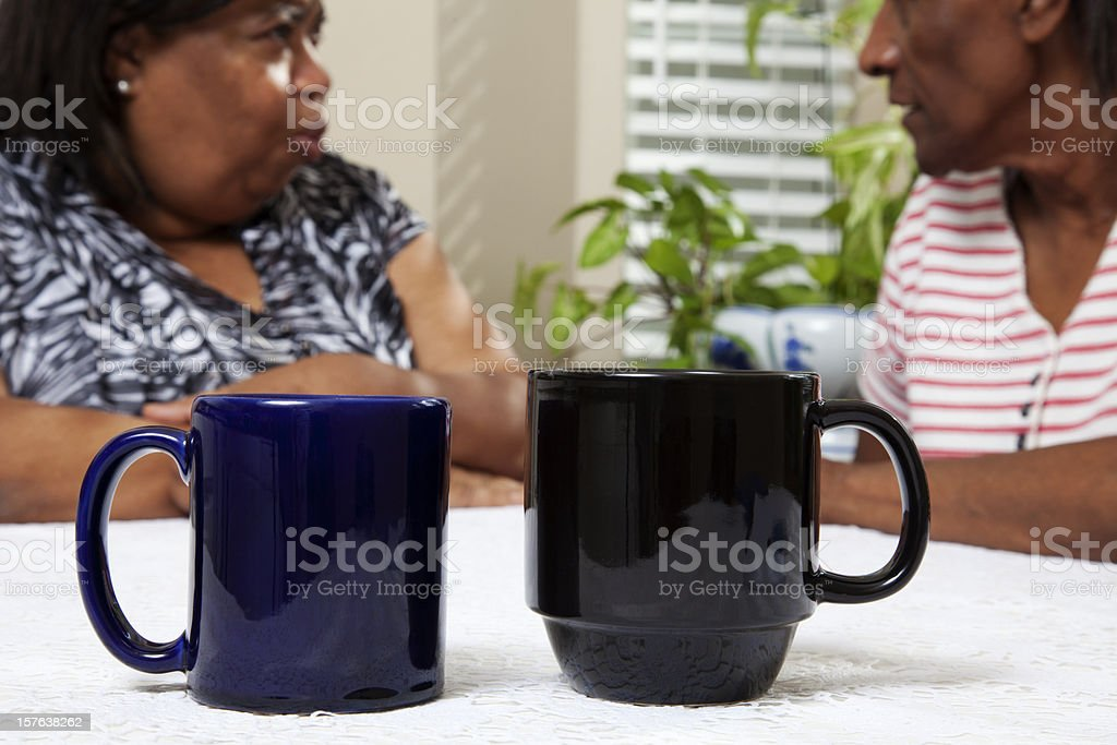 Senior Women Gossipers royalty-free stock photo