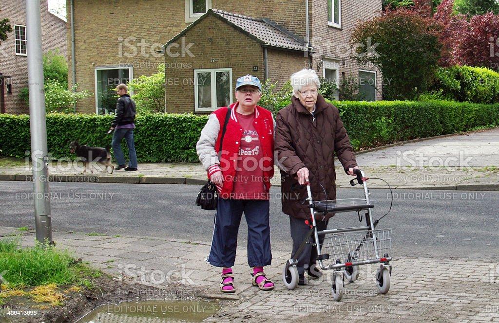 Senior women making a trip stock photo