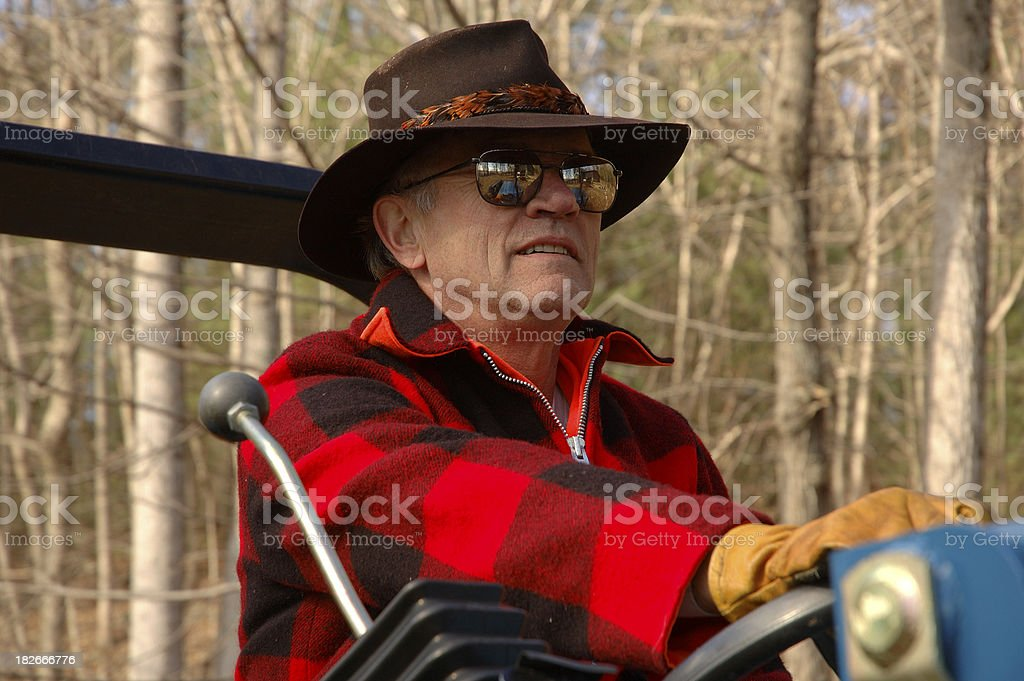 Senior Woodsman royalty-free stock photo