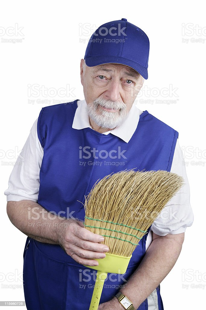 Senior Worker - Disappointment royalty-free stock photo