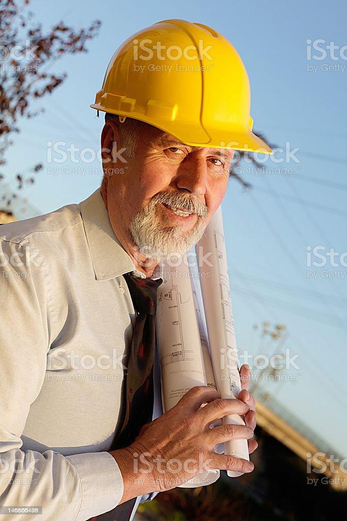 Senior worker royalty-free stock photo
