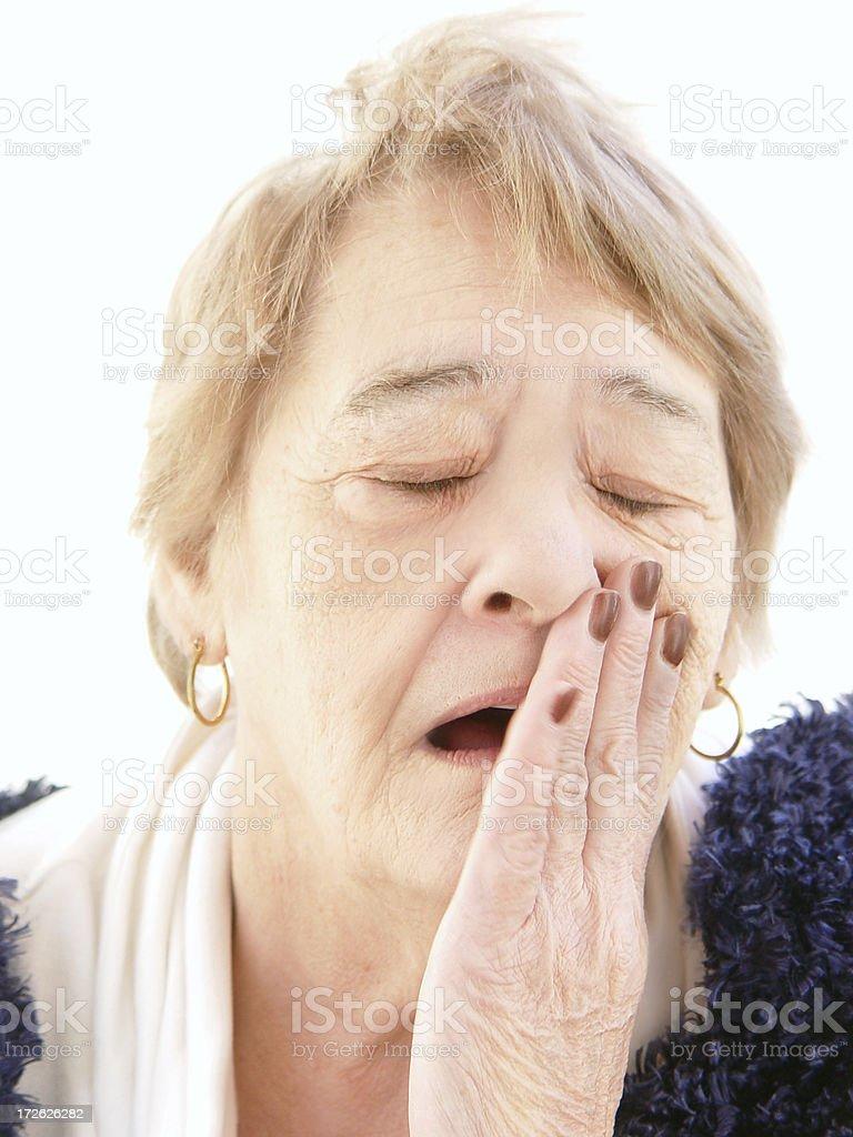 senior - yawning stock photo