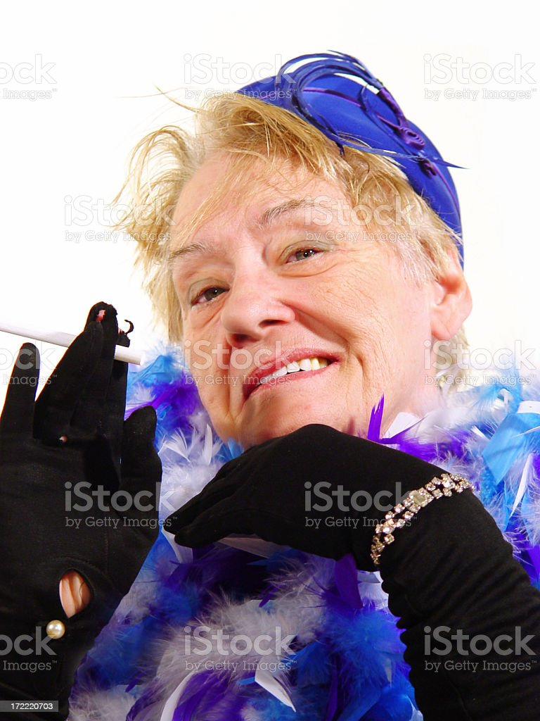 senior - you were saying? royalty-free stock photo