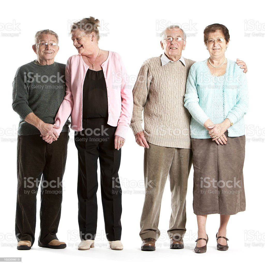 seniors: a class act royalty-free stock photo