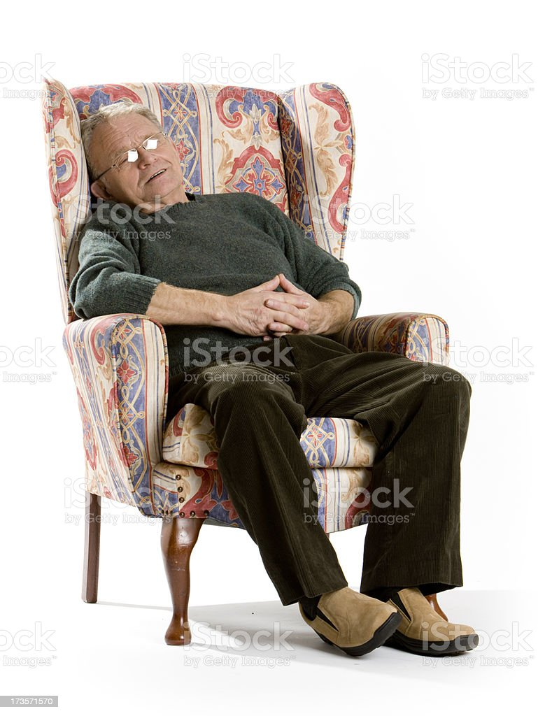 seniors: afternoon nap royalty-free stock photo