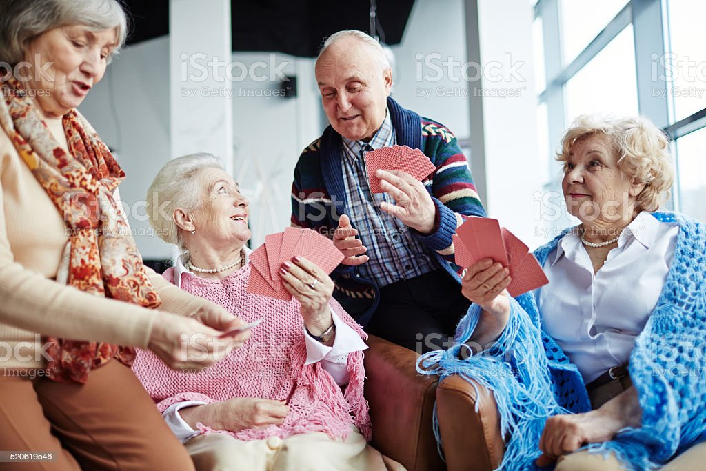 Seniors at leisure stock photo