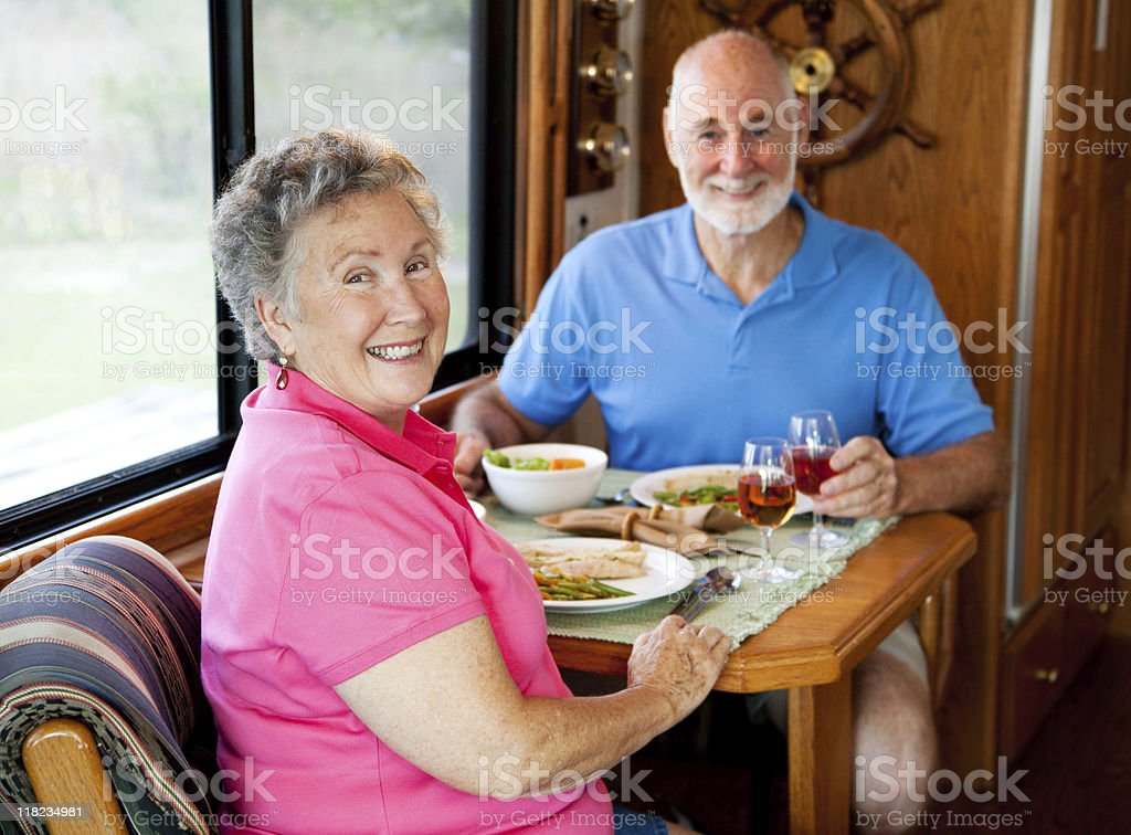 RV Seniors - Casual Dining royalty-free stock photo