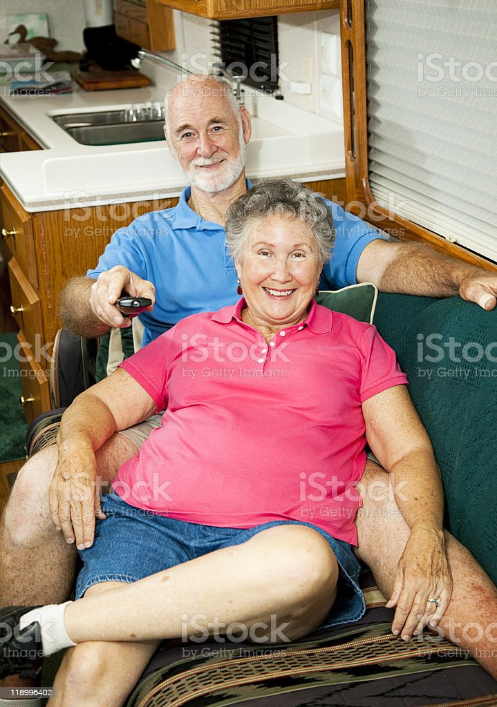 RV Seniors - Channel Surfing royalty-free stock photo