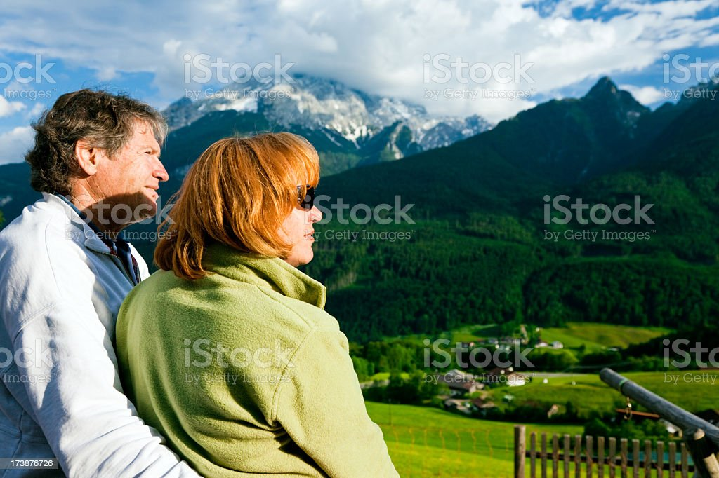 seniors enjoying the view royalty-free stock photo