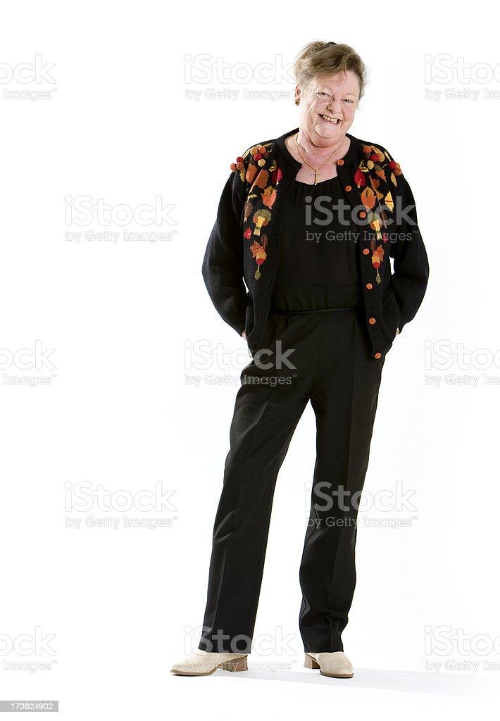 seniors: friendly lady royalty-free stock photo