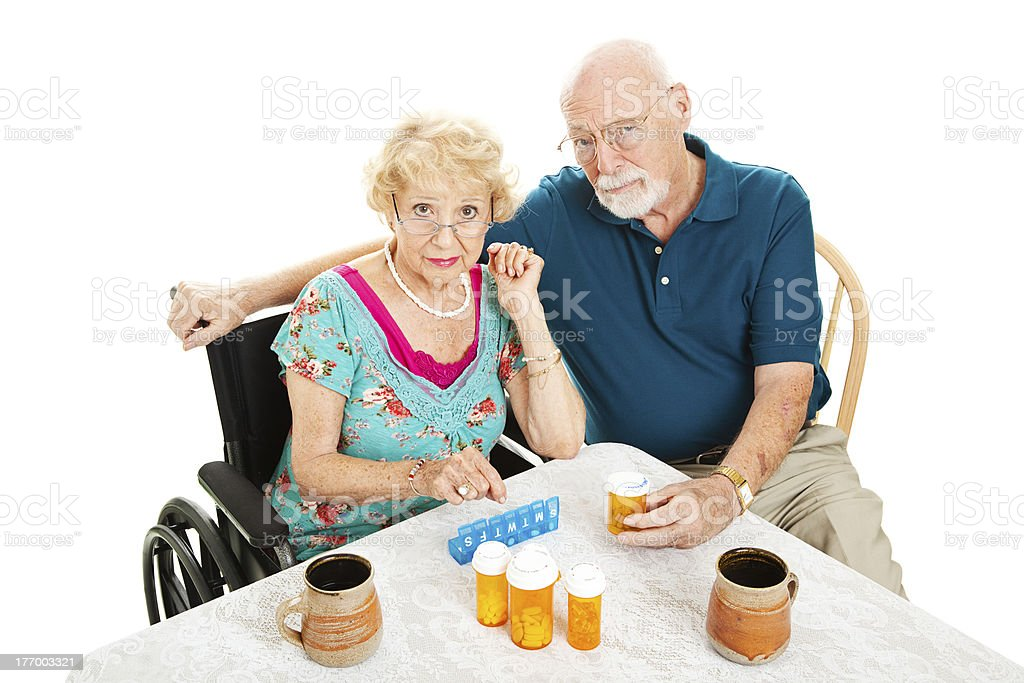 Seniors Frustrated by Health Problems royalty-free stock photo