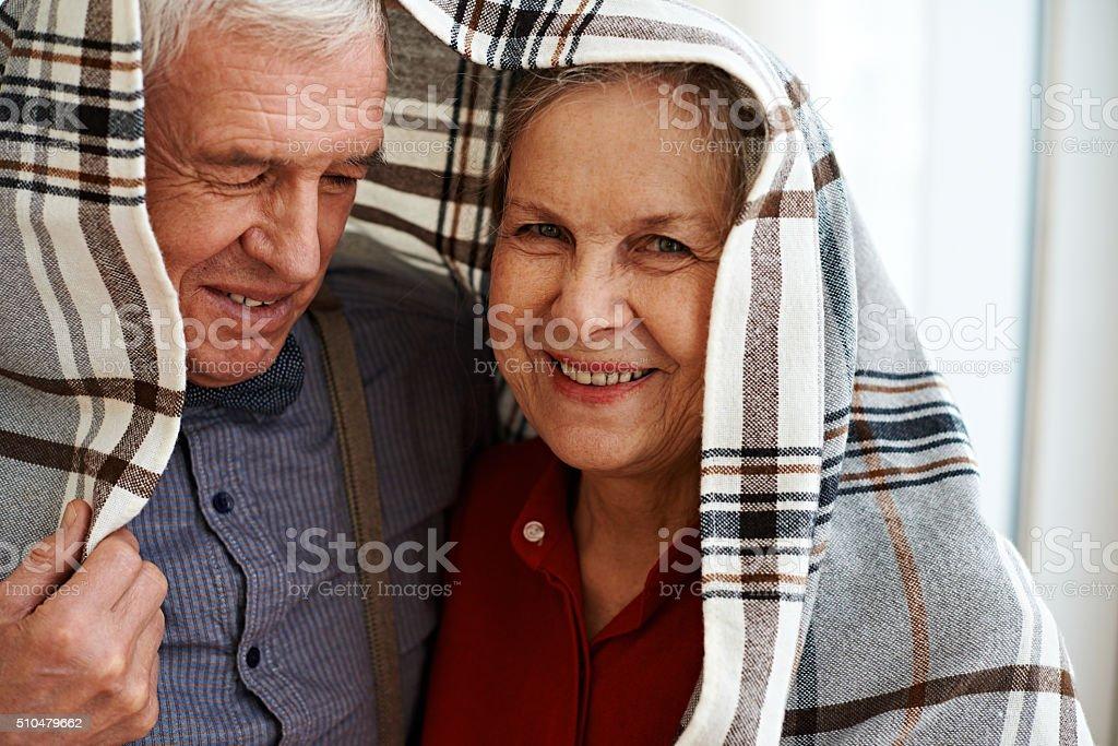 Seniors' fun stock photo