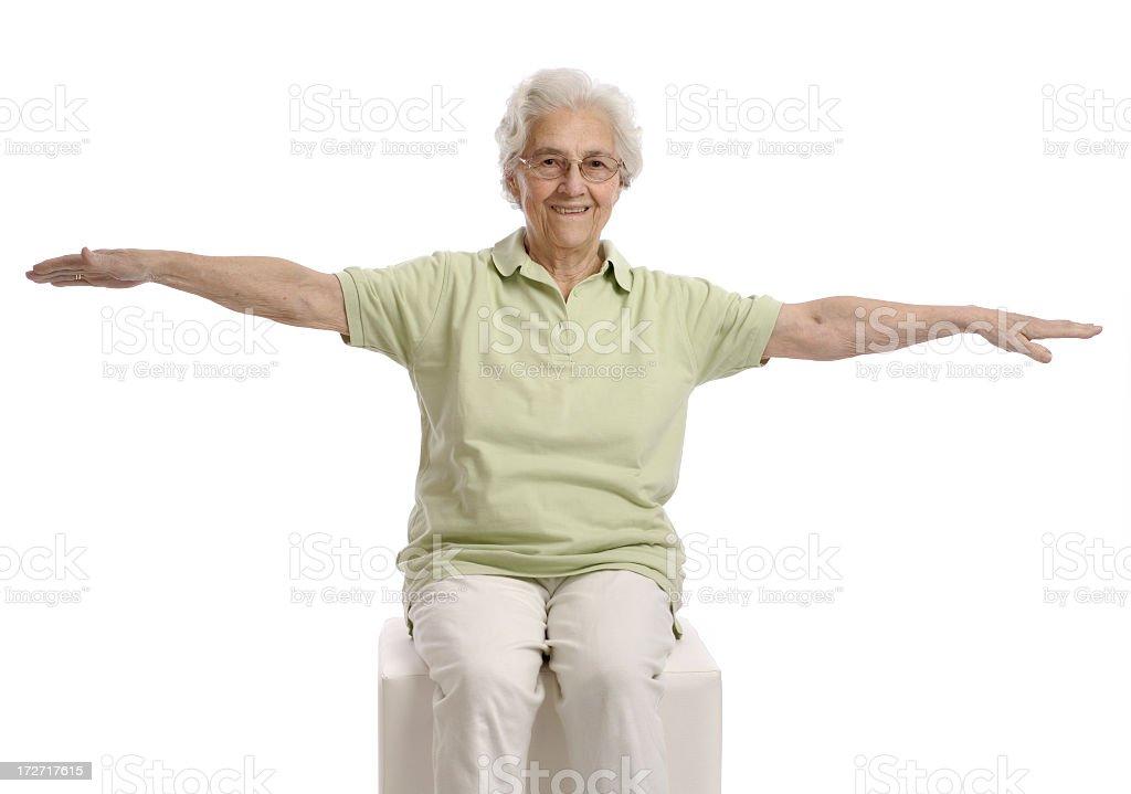 Seniors gym stock photo