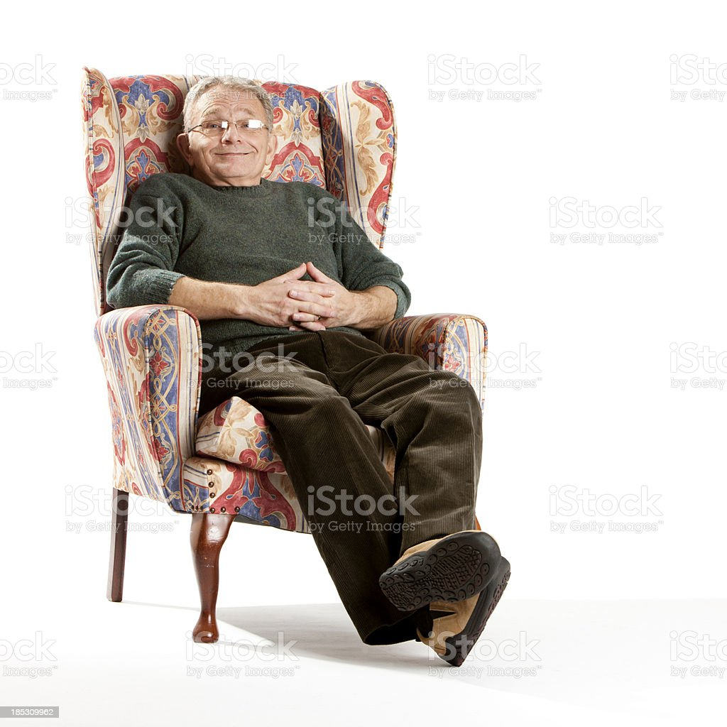 seniors: happy and contented stock photo