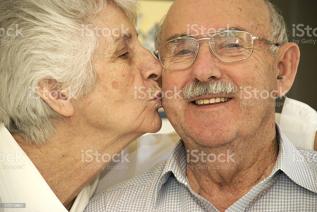 Seniors In Love royalty-free stock photo