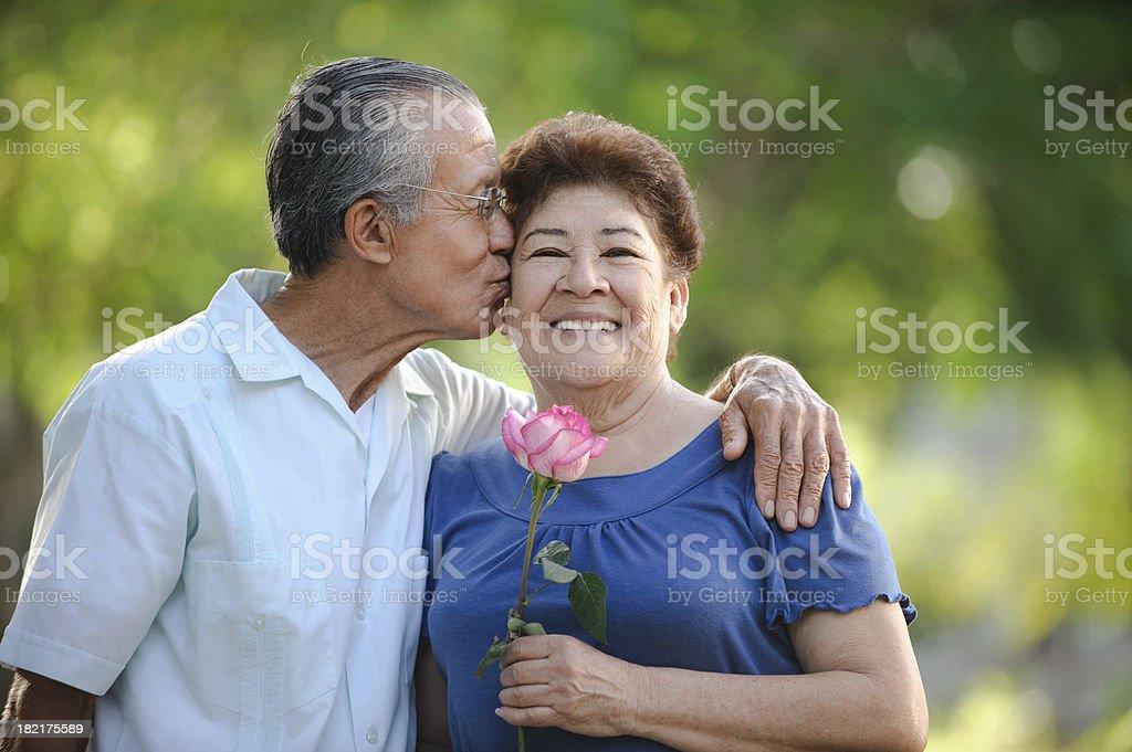 Seniors in love royalty-free stock photo