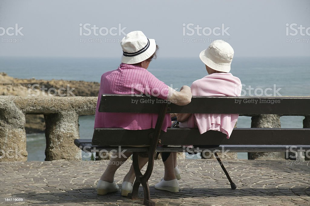 Seniors in Pink royalty-free stock photo