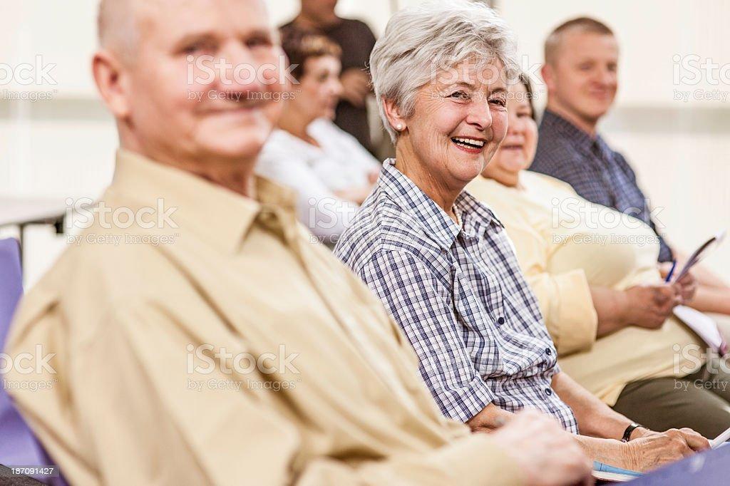 Seniors in the Community Center stock photo