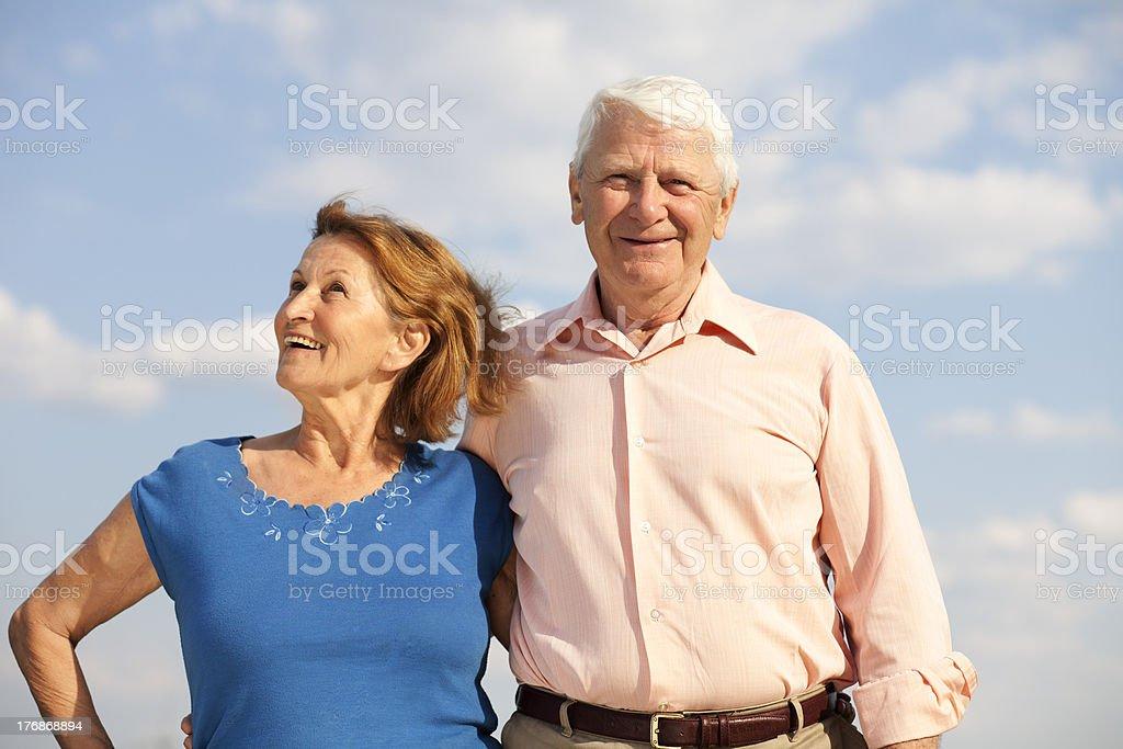 seniors in the sun royalty-free stock photo
