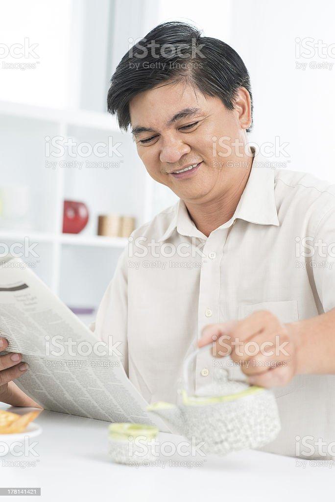 Senior''s morning royalty-free stock photo