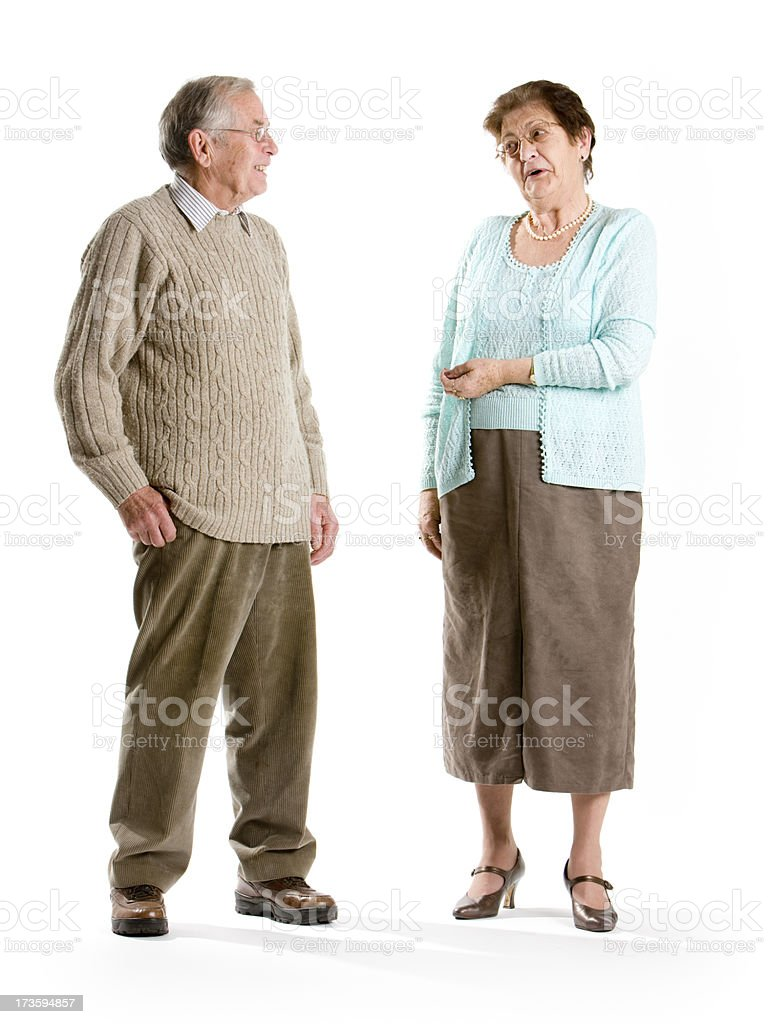 seniors: old friends royalty-free stock photo