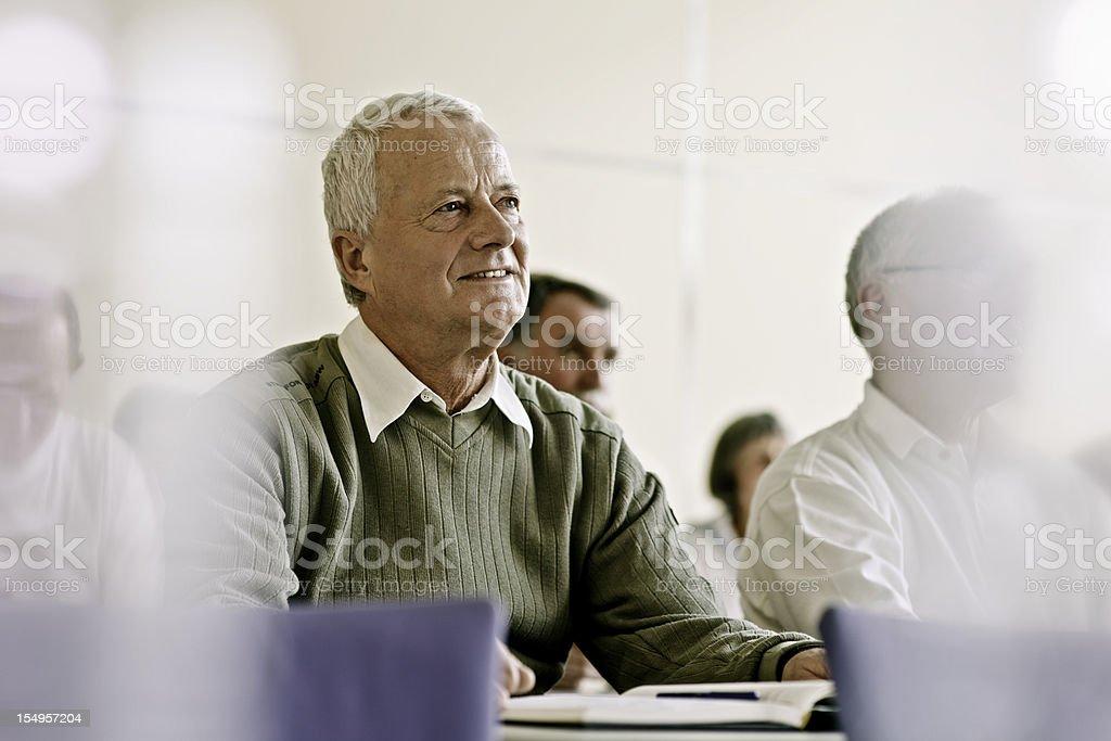Seniors on the Seminar stock photo