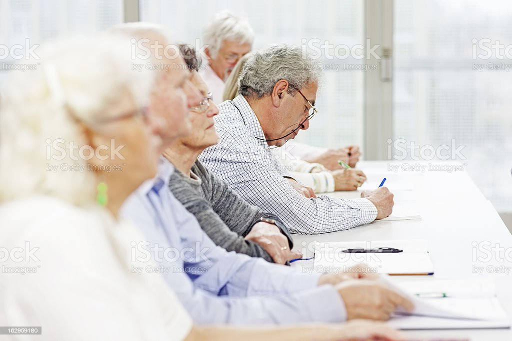 Seniors on the seminar royalty-free stock photo