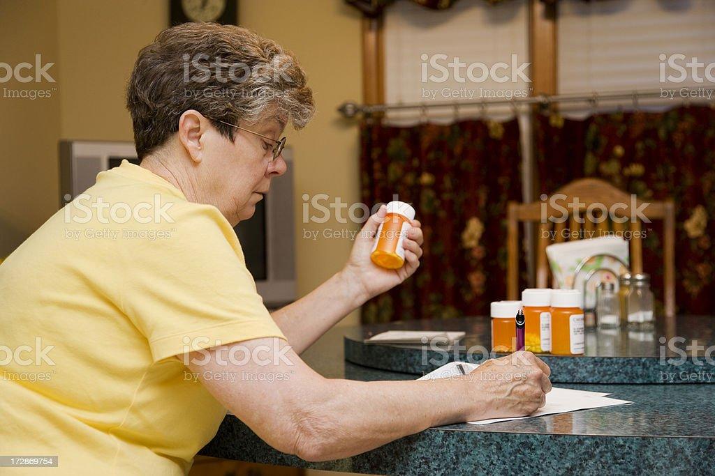 seniors prescriptions royalty-free stock photo