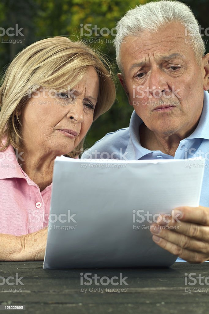 Seniors read royalty-free stock photo