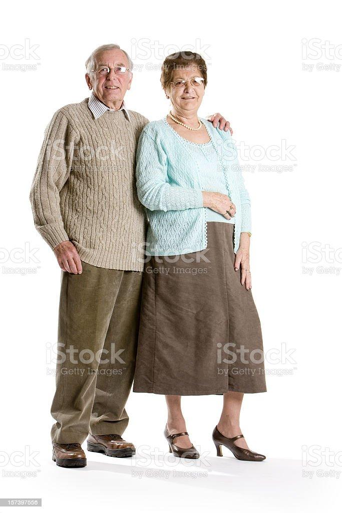 seniors: retired couple royalty-free stock photo