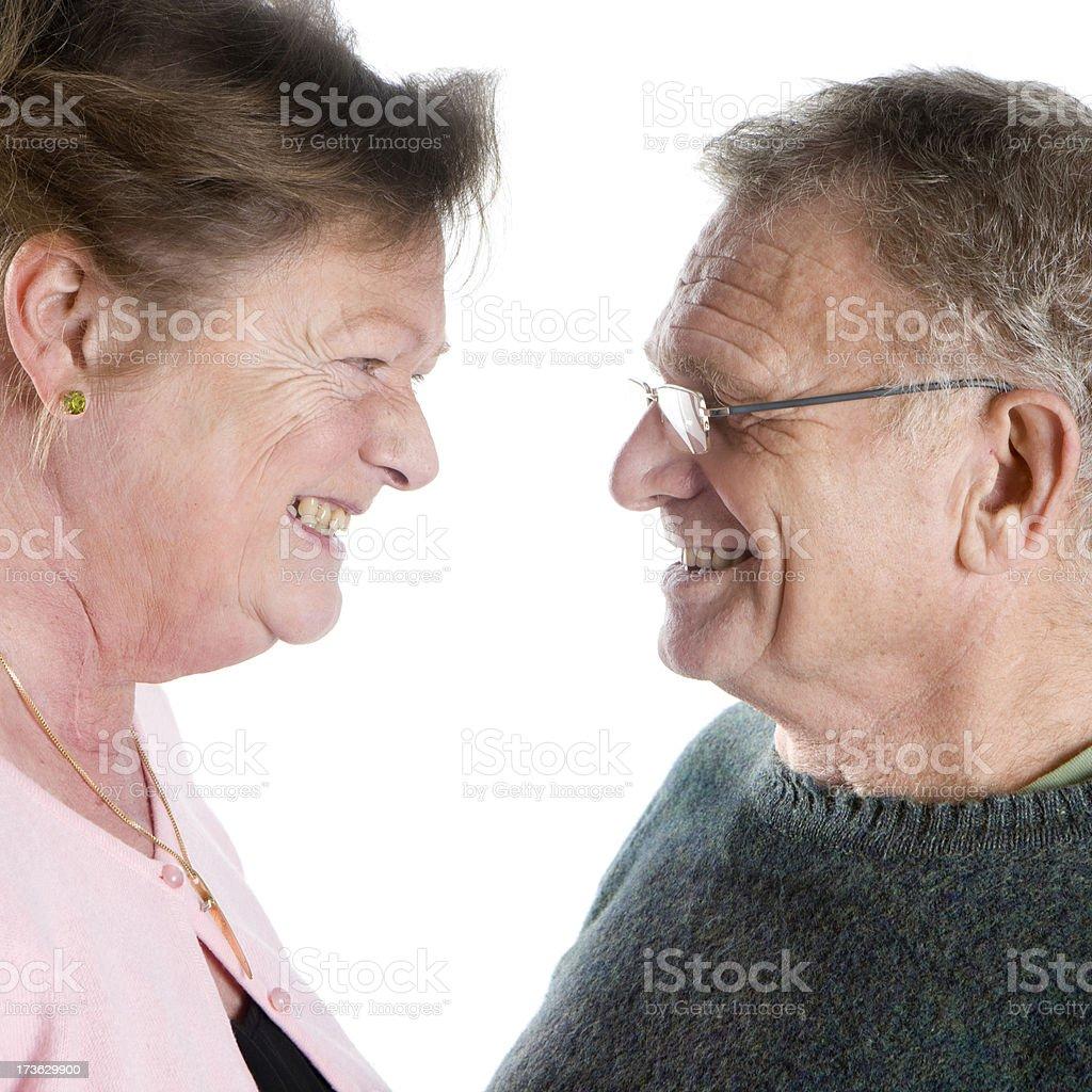 seniors: senior profile royalty-free stock photo