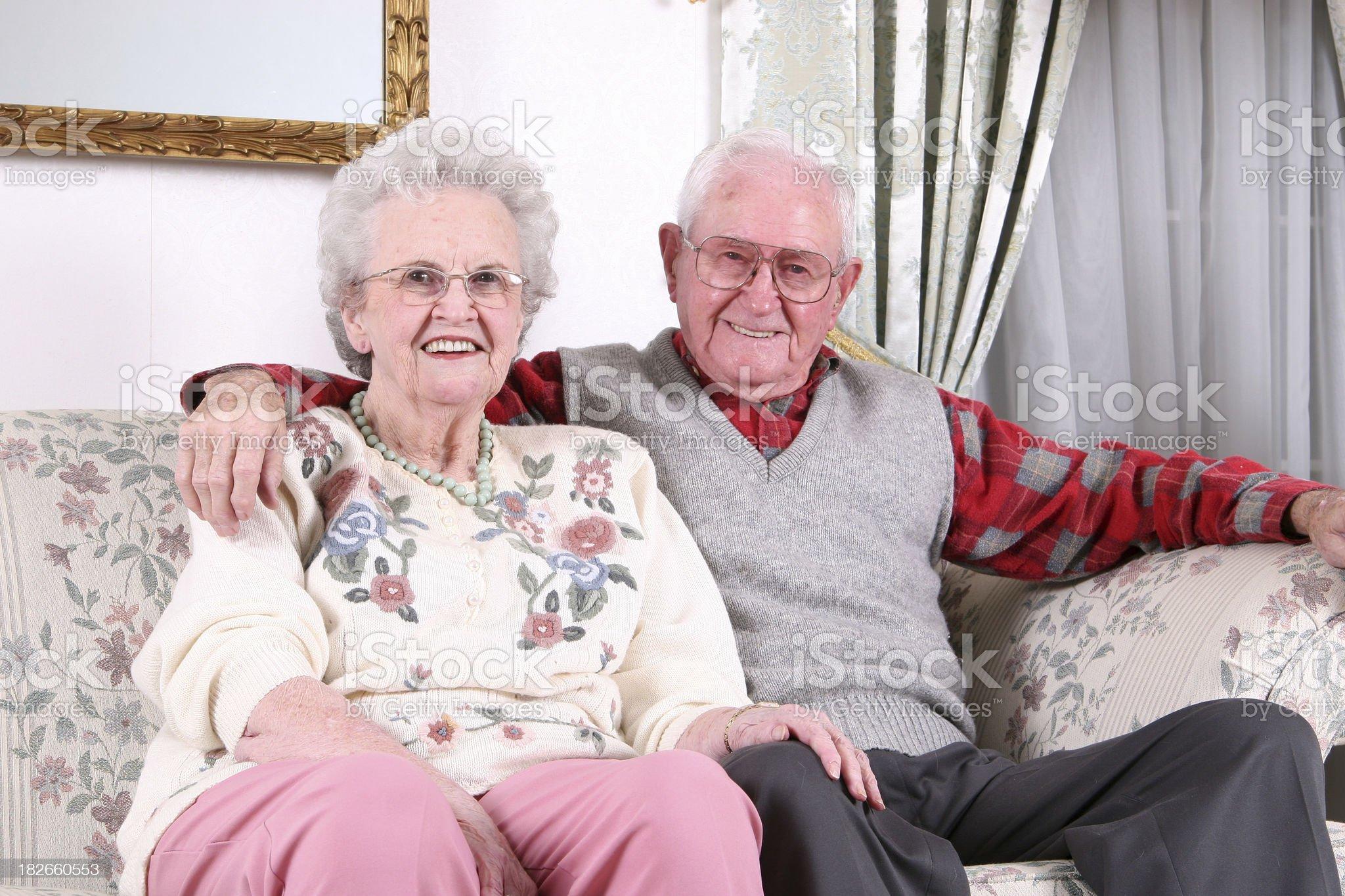 Seniors smiling. royalty-free stock photo