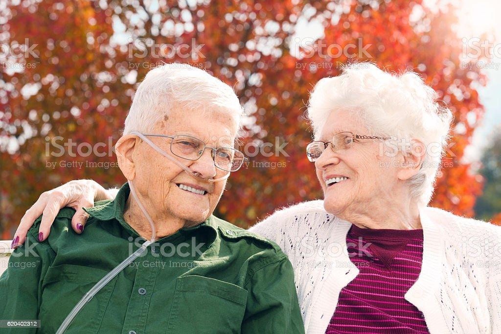 Seniors Still In Love stock photo