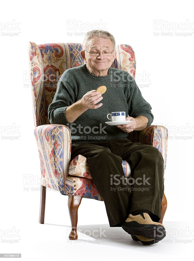 seniors: tea and biscuits royalty-free stock photo