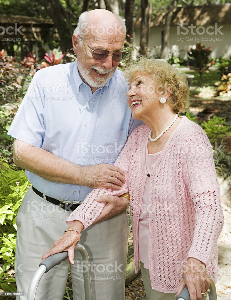 Seniors - Trust and Love royalty-free stock photo