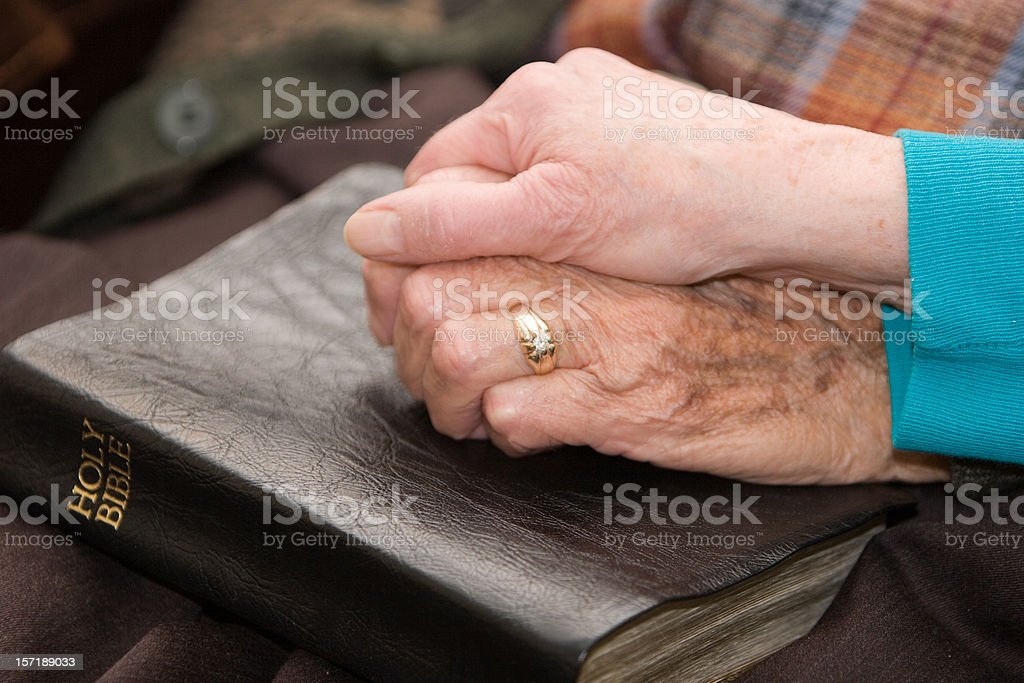 Seniors Worship Together stock photo