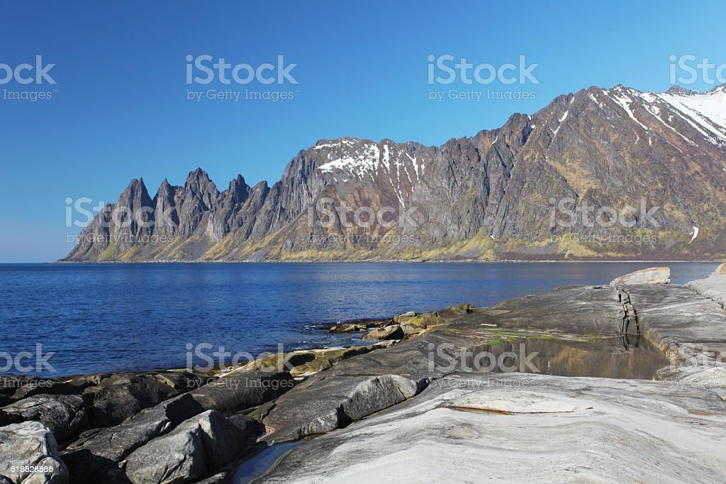 Senja island,Norway stock photo