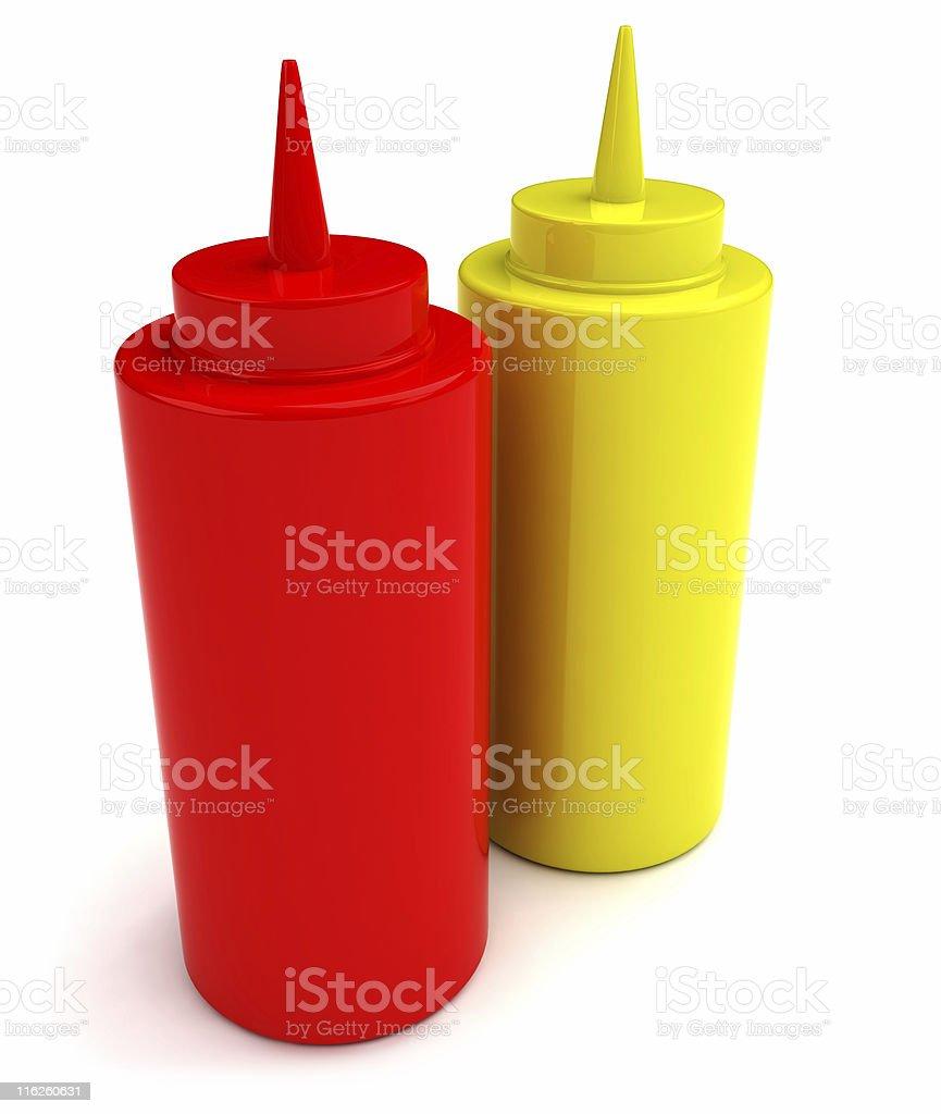 Sennep & Ketchup royalty-free stock photo