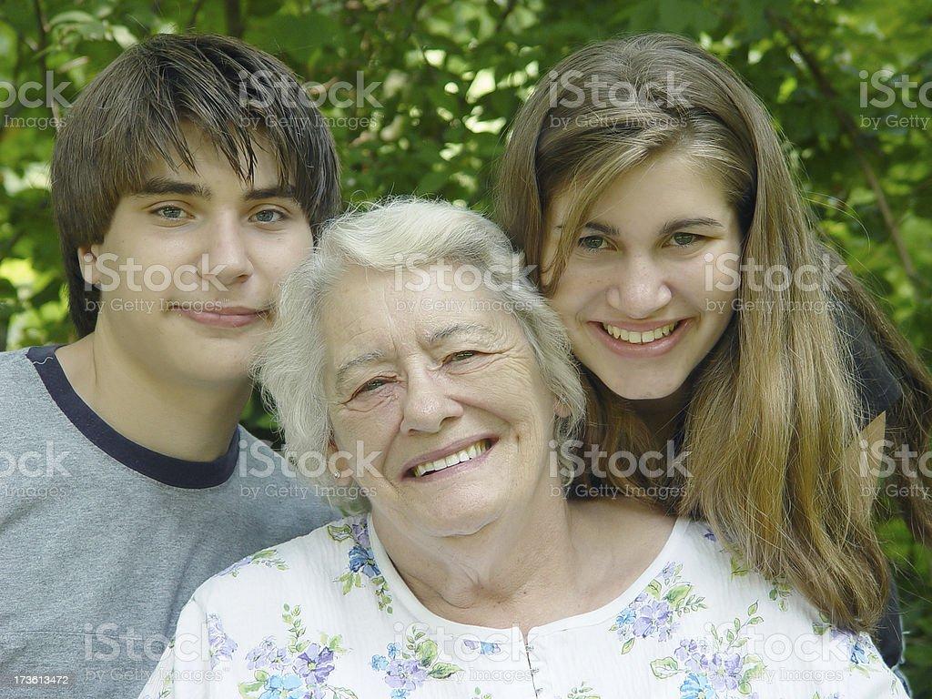 senoir - our grandma royalty-free stock photo