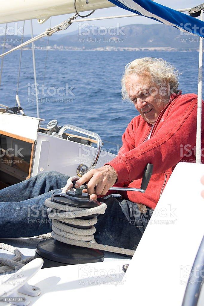 Senor sailor. royalty-free stock photo