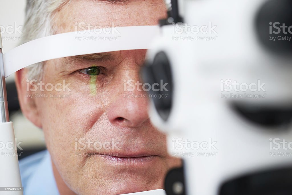 Sensible about eyesight stock photo