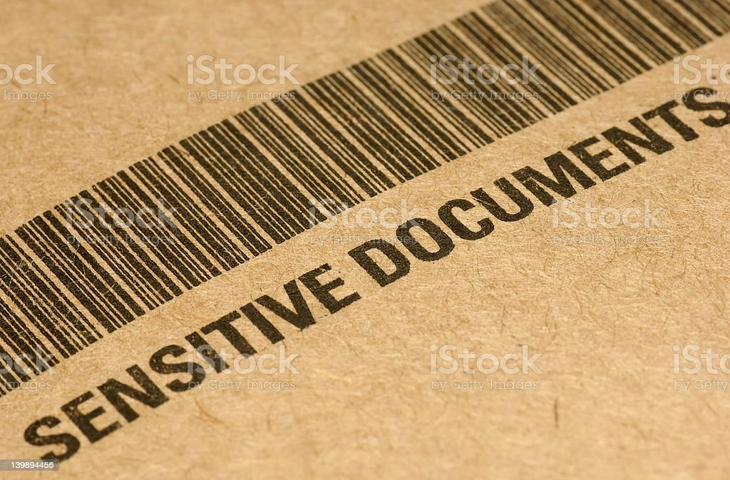 Sensitive Documents royalty-free stock photo