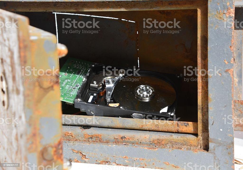 Sensitive information stock photo